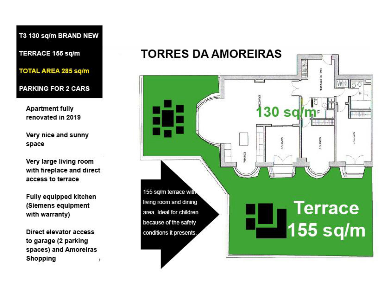 Image Appartement de 130 m2 avec 3 chambres à coucher (deux suites) situé à la Lisbonne 7