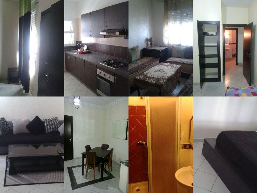 Image belle studio meublé wifi ascenseur parking ain sebaa casablanca maroc 48