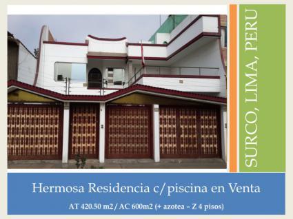 Image Sale prestigious real estate surco, lima  2