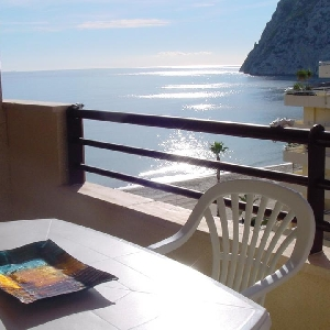 Apartment first line of beach in Calpe, Spain></noscript>